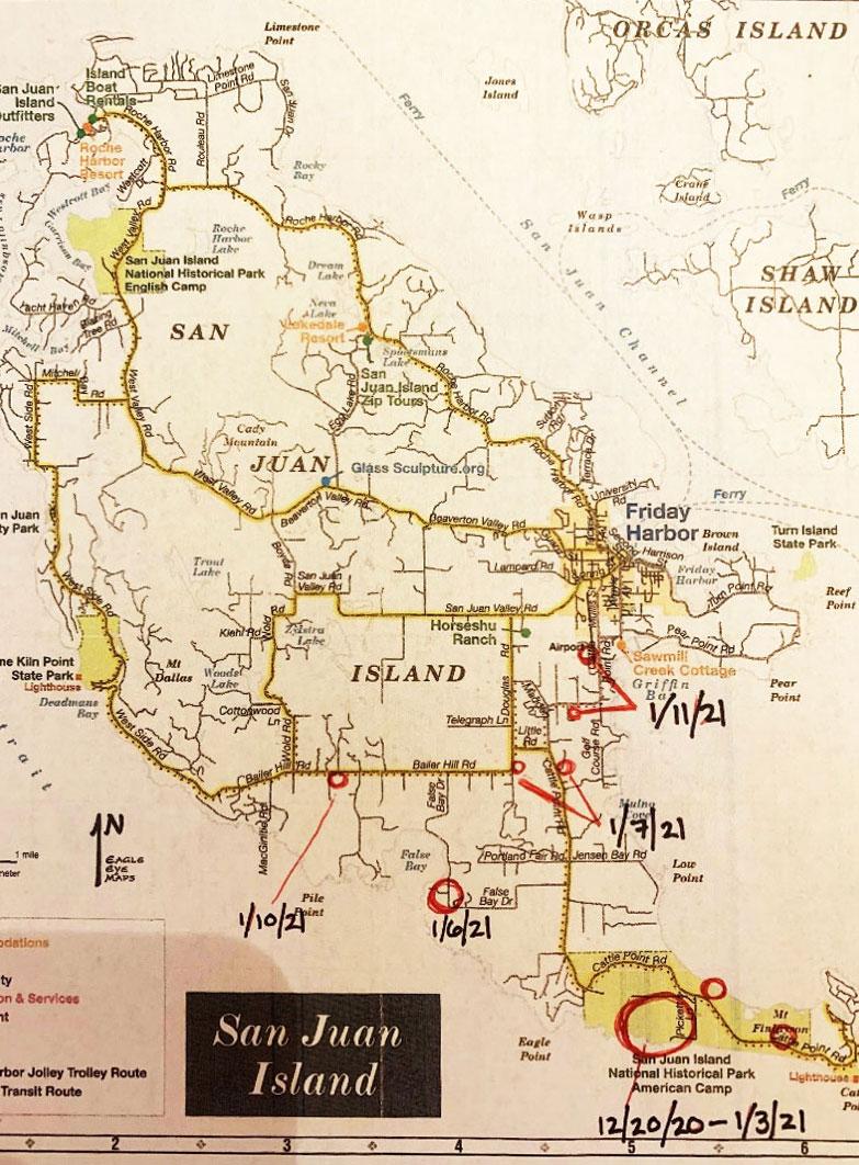 Queenie Sightings Map